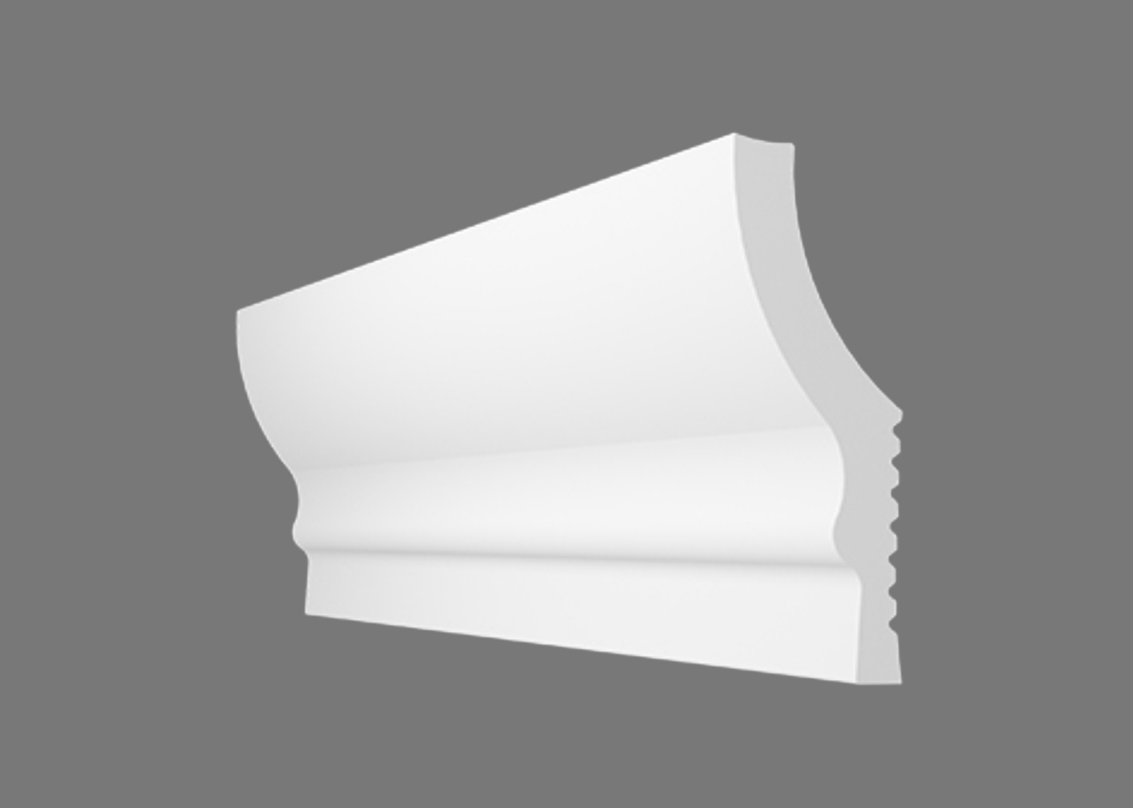 Потолочный плинтус N-60 (Размер:18х58мм)